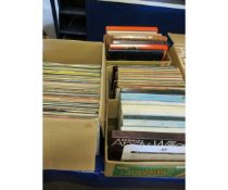 FOUR BOXES OF VARIOUS VINYL BOXED SETS, OTHER EASY LISTENING ETC