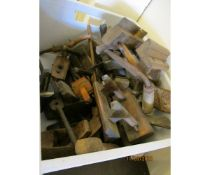 BOX OF COLLECTION OF VARIOUS MOULDING PLANES ETC