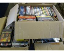 THREE BOXES OF VARIOUS DVDS