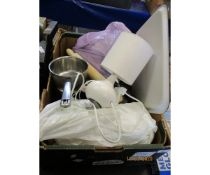 BOX OF VARIOUS KITCHEN WARE ETC