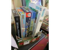 SMALL BOX CONTAINING FIVE JIGSAW PUZZLES