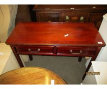 REPRODUCTION TWO DRAWER SIDE TABLE