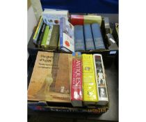 TWO BOXES VARIOUS ENCYCLOPAEDIAS, REFERENCE BOOKS ETC