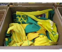 BOX OF VARIOUS NORWICH SHIRTS ETC