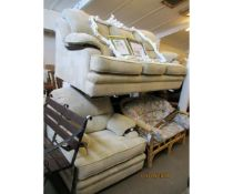 MODERN TWO-PIECE SUITE OF THREE SEATER SOFA AND EASY CHAIR