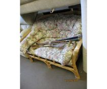 CANE TWO-SEATER SOFA