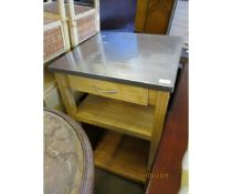 METAL TOPPED KITCHEN CABINET