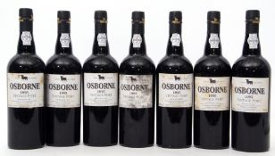 Osbourn vintage Port 1995, 7 bottles