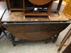 EARLY 18TH CENTURY OAK DROP LEAF GATE LEG TABLE