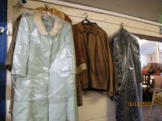LADIES COAT, GENT'S COATS, SUEDE COATS WITH SHEEPSKIN TRIMS ETC (QTY)