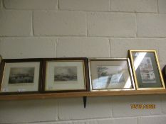 "PAIR OF OAK FRAMED ETCHINGS ""LEITH PIER AND HARBOUR"" AND ""LONDON SOUTHWARK AND BLACKFRIARS"