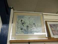 LIMITED EDITION PRINT SIGNED IN PENCIL BY THE ARTIST DEPICTING WATERFOWL