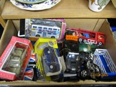 BOX CONTAINING MIXED MODERN DIE-CAST TOY VEHICLES
