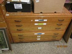 OAK SIX DRAWER PLAN CHEST
