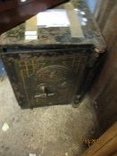 VINTAGE CAST METAL SAFE