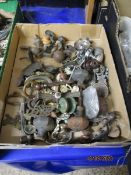 BOX CONTAINING FURNITURE HANDLES, FITTINGS ETC