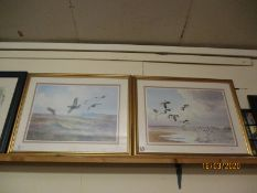 FRAMED J C HARRISON PRINT OF GROUSE AND ONE OF SANDPIPERS (2)