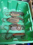 BOX CONTAINING SMALL POCKET BALANCE SCALES
