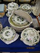 MIXED LOT OF BOOTHS JADE LOTUS DINNER WARES
