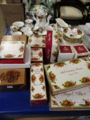 QUANTITY OF ROYAL ALBERT OLD COUNTRY ROSE TEA WARES ETC