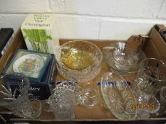 BOX CONTAINING MIXED BOWLS, JUGS, VASES ETC