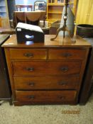 19TH CENTURY MAHOGANY TWO OVER THREE FULL WIDTH DRAWER CHEST