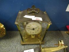 BRASS FRAMED BENTIME CARRIAGE TYPE CLOCK