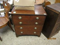 LATE 18TH/EARLY 19TH CENTURY MAHOGANY COMMODE CABINET, LIFTING LID WITH FOUR DUMMY DRAWERS BELOW