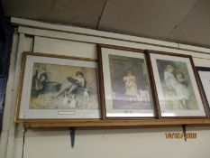 THREE FRAMED COLOURED PRINTS OF VICTORIAN CHILDREN