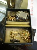 SMALL BOX OF COSTUME JEWELLERY
