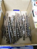 BOX CONTAINING VINTAGE DRILL BITS