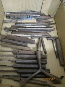 BOX CONTAINING MIXED TOOLS, PUNCHES, ETC
