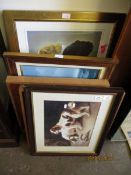 GROUP OF MIXED DOG PRINTS, PICTURES ETC