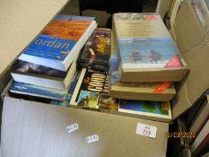 BOX OF MIXED TRAVEL BOOKS