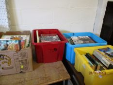 FOUR BOXES OF MIXED BOOKS