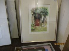 COLOURED LITHOGRAPH SIGNED IN PENCIL BY DEIRDRE MORGAN