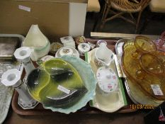 VARIOUS DRESSING TABLE POTS, OTHER POTTERY ETC