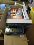 BOX OF MIXED DVDS ETC