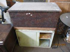 PINE BLANKET BOX AND SHELF UNIT