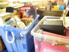 TWO BOXES OF CHILDREN'S TOYS ETC