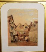 Thomas Lound (1802-1861), 'Old Yard in Oak Street, watercolour, monogrammed and dated 1850 lower