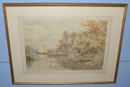 Charles Harmony Harrison (1842-1902), Ranworth Broad, watercolour, signed and dated 1890 lower