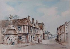 AR Arthur Edward Davies RBA, RCA, (1893-1988), 'In Walsingham, Norfolk', pencil and watercolour,