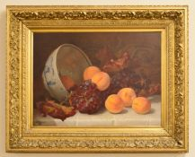 Eloise Harriet Stannard (1829-1915), 'Fruit', oil on canvas, signed and dated 1893 lower left,