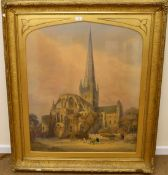George De Paris (1829-1911), Norwich Cathedral, watercolour, signed and dated 1873 lower right,89