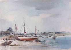 AR Arthur Edward Davies RBA, RCA, (1893-1988), 'The Deben at Waldingfield', pencil and
