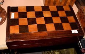 Vintage mahogany games box, 45cm long