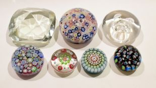 Group of paperweights including Perthshire and others (7)