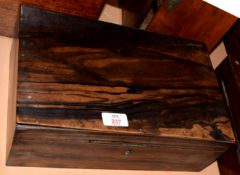 Anglo Indian Coromandel work box with fitted interior, 34.5cm wide