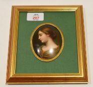 Decorative framed oval miniature